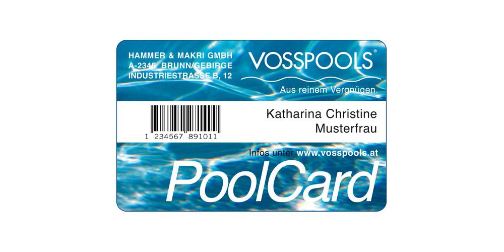 Poolcard von Vosspools